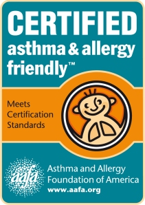 Look for this mark for products scientifically tested and proven to be more suitable for those with asthma and allergies